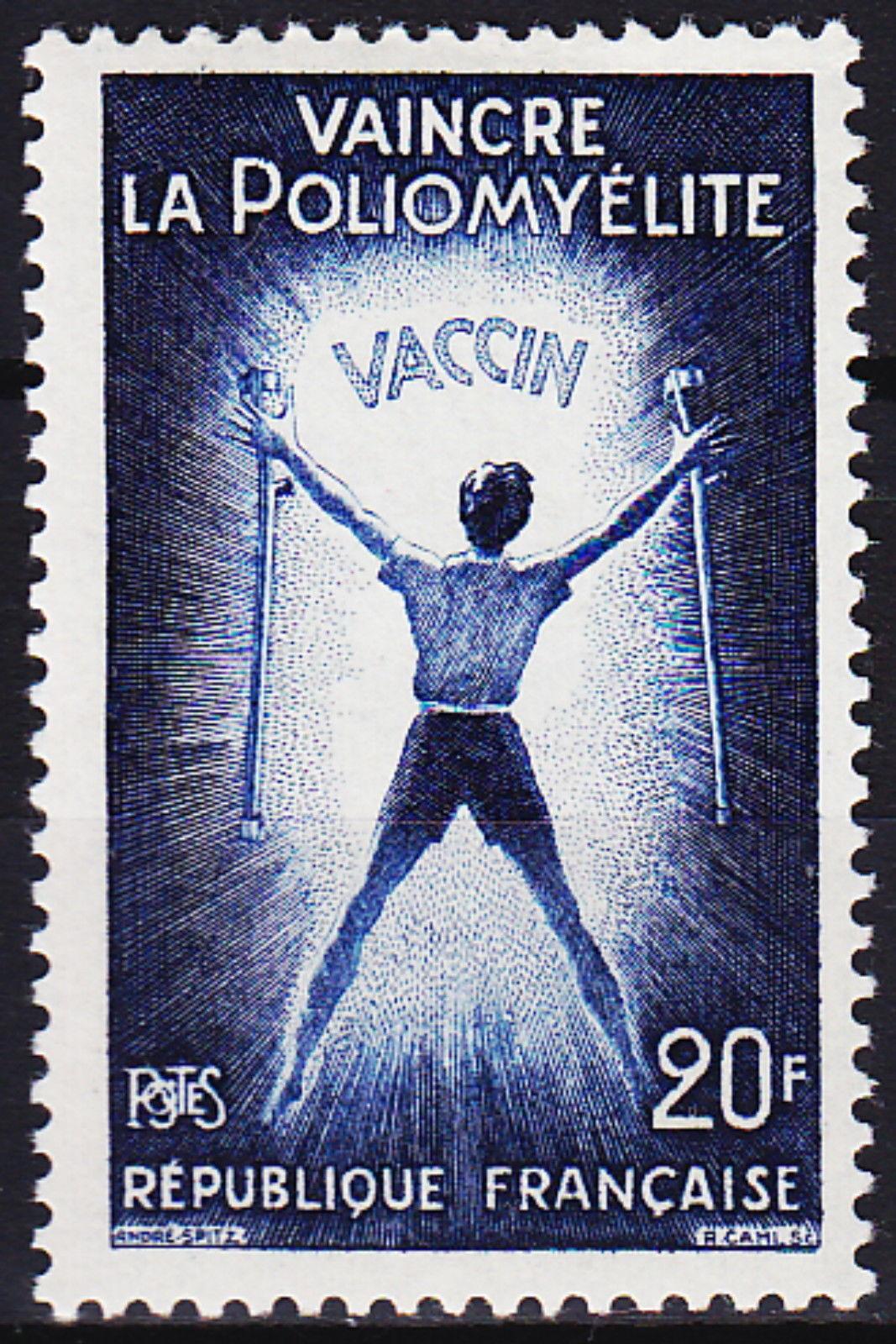 France 1959 Vaccination Against Poliomyelitis