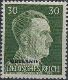 German Occupation-Russia Ostland 1941 Stamps of German Reich Overprinted in Black n.jpg