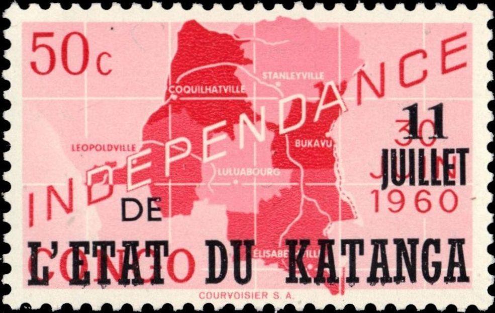 Katanga 1960 Postage Stamps from Congo Overprinted b.jpg