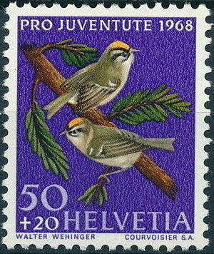 Switzerland 1968 PRO JUVENTUTE - Birds d.jpg