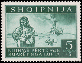 Albania 1944 Surtax for Victims of World War II