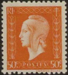 France 1945 Marianne de Dulac (2nd Issue) d.jpg