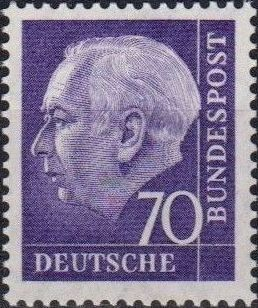 Germany, Federal Republic 1957 Pres. Theodor Heuss e.jpg