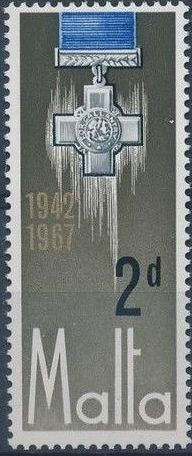 Malta 1967 25th Anniversary Of The George Cross Award