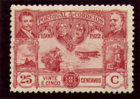 Portugal 1923 First flight Lisbon Brazil i.jpg