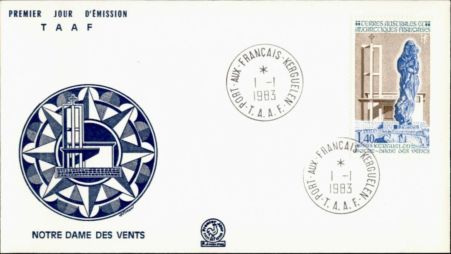 French Southern and Antarctic Territories 1983 Our Lady of the Winds, Kerguelen