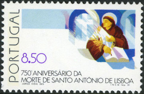 Portugal 1981 750th Anniversary of Death of St. Anthony of Lisbon