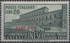 Trieste-Zone A 1950 5th General Conference of UNESCO a.jpg