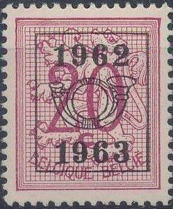 Belgium 1962 Heraldic Lion with Precancellations e.jpg
