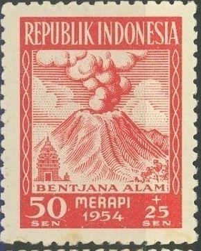 Indonesia 1954 Surtax for Victims of the Merapi Volcano Eruption c.jpg