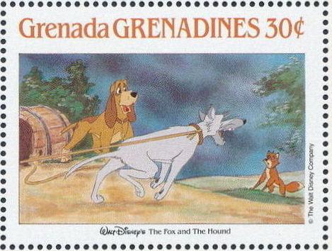 Grenada Grenadines 1988 The Disney Animal Stories in Postage Stamps 2f.jpg