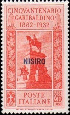 Italy (Aegean Islands)-Nisiro 1932 50th Anniversary of the Death of Giuseppe Garibaldi i.jpg