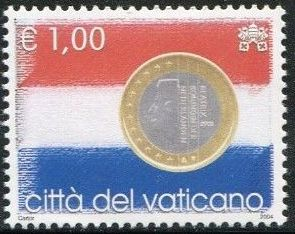 Vatican City 2004 Flags and One-Euro Coins l.jpg