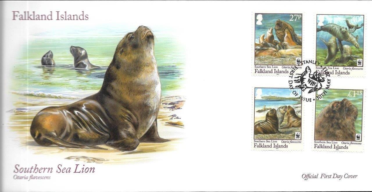 Falkland Islands 2011 WWF - The Southern Sealion FDCa.jpg