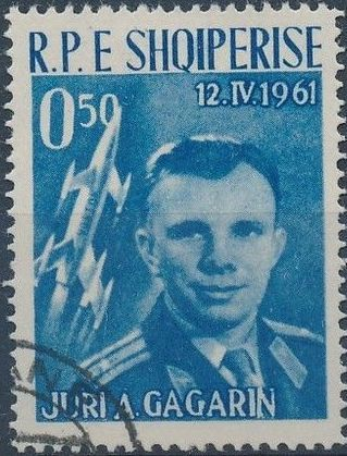 Albania 1962 1st manned space flight - Yuri Gagarin