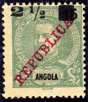 Angola 1912 D. Carlos I Overprinted and Surcharge