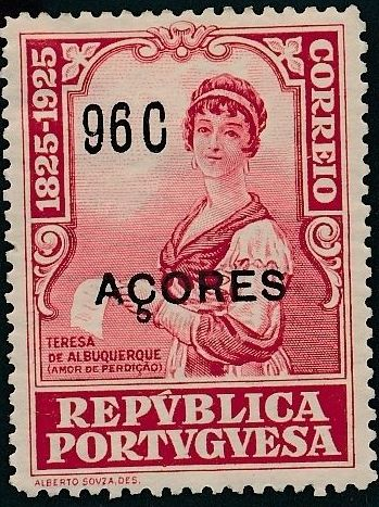 Azores 1925 Birth Centenary of Camilo Castelo Branco r.jpg