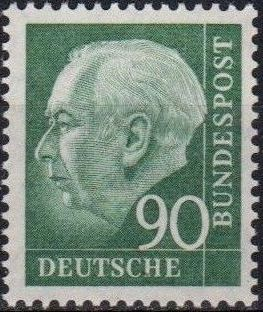 Germany, Federal Republic 1957 Pres. Theodor Heuss g.jpg