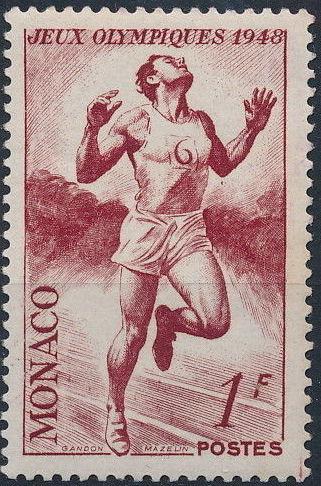 Monaco 1948 Summer Olympics, London - Regular Stamps b.jpg