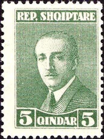 Albania 1925 President Ahmed Zogu c.jpg