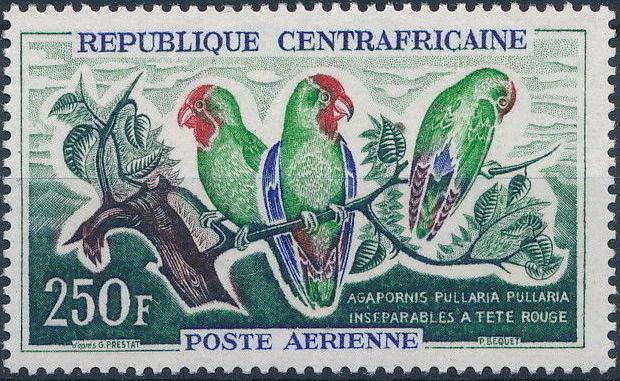 Central African Republic 1963 Birds