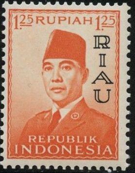 Indonesia-Riau 1960 President Sukarno - Definitives