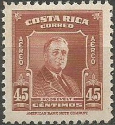 Costa Rica 1947 Franklin D. Roosevelt - Air Post Stamps c.jpg