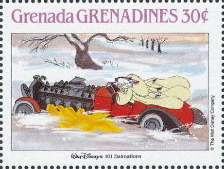 Grenada Grenadines 1988 The Disney Animal Stories in Postage Stamps 3g.jpg