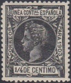 Spanish Guinea 1903 Alfonso XIII