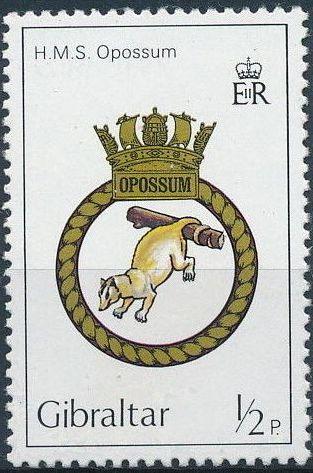 Gibraltar 1982 Royal Navy Crests 1st Group