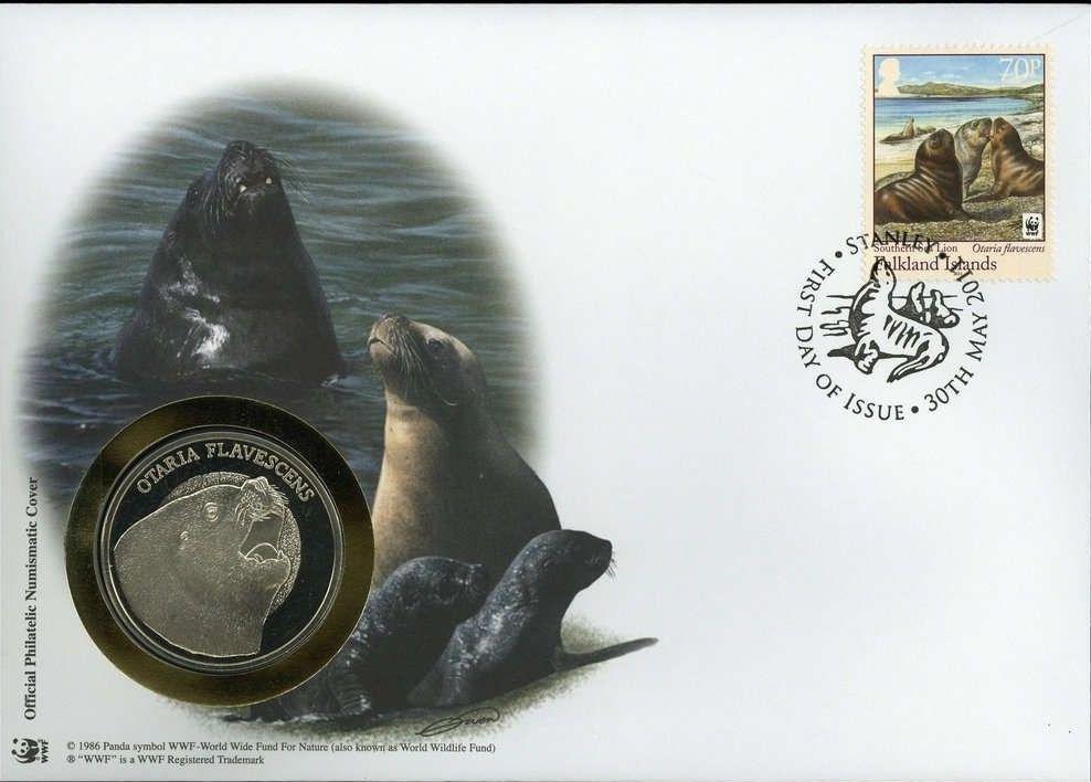 Falkland Islands 2011 WWF - The Southern Sealion FDCh.jpg