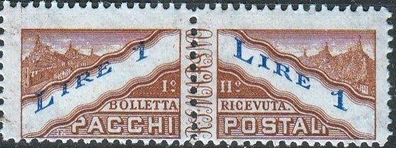 San Marino 1945 Parcel Post Stamps h.jpg