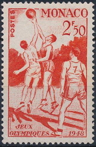 Monaco 1948 Summer Olympics, London - Regular Stamps d.jpg