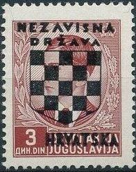 Croatia 1941 Peter II of Yugoslavia Overprinted in Black f.jpg