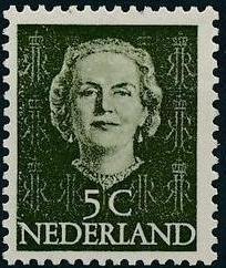 Netherlands 1949 Queen Juliana - En Face (1st Group)
