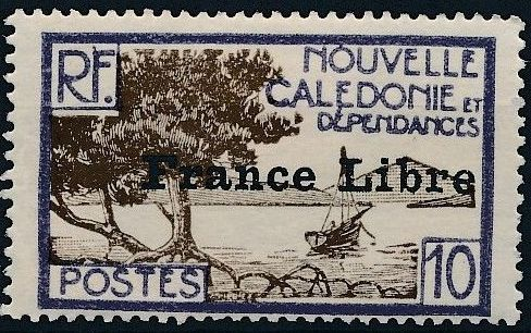 """New Caledonia 1941 Definitives of 1928 Overprinted in black """"France Libre"""" f.jpg"""