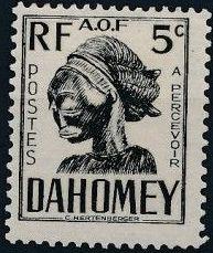 Dahomey 1941 Carved Mask