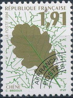 France 1994 Leaves - Precanceled