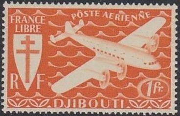 French Somali Coast 1941 Airmail