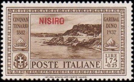 Italy (Aegean Islands)-Nisiro 1932 50th Anniversary of the Death of Giuseppe Garibaldi h.jpg