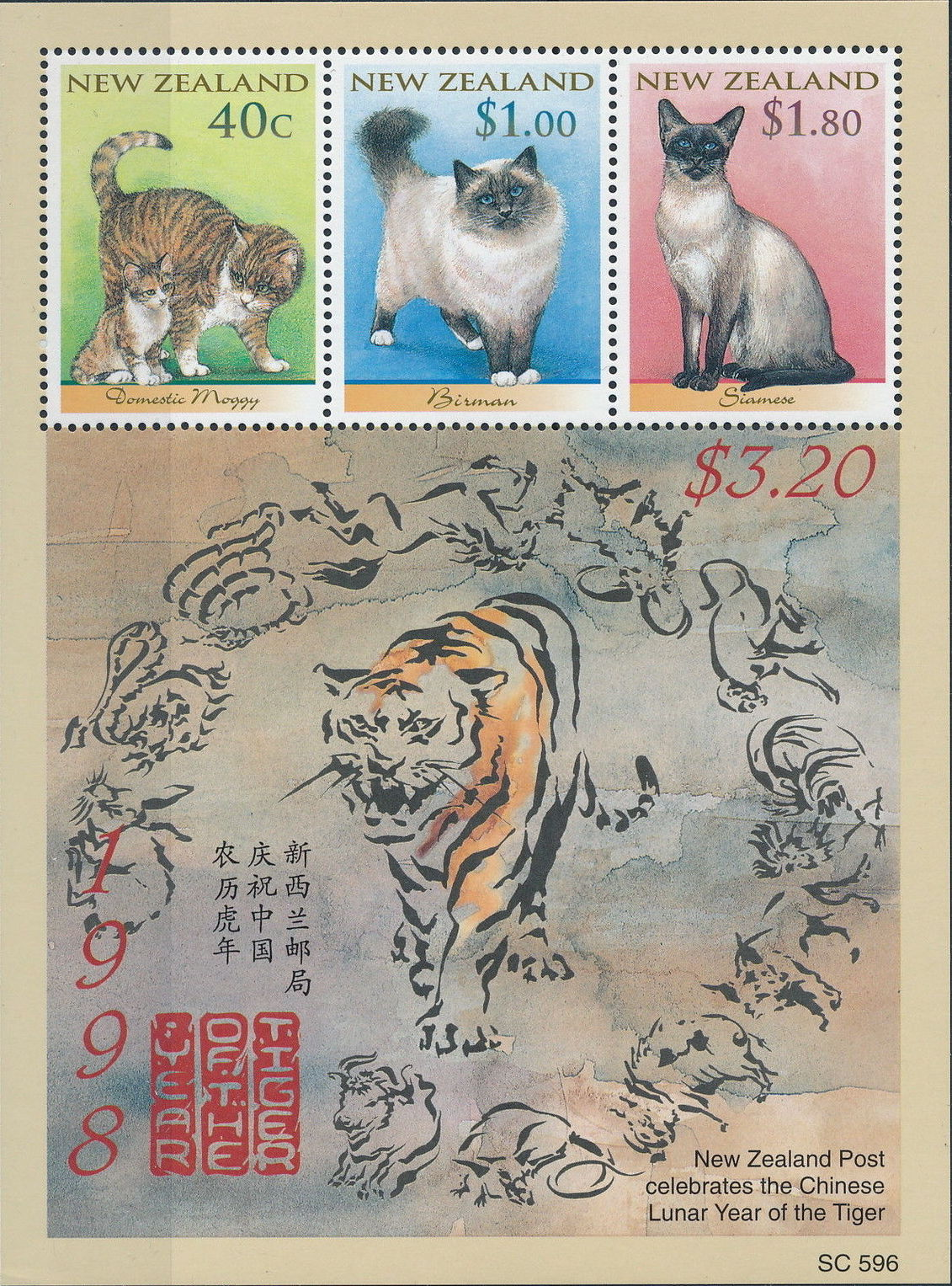 New Zealand 1998 Year of the Tiger