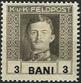Romania 1918 Emperor Karl I (Under Austrian Occupation)