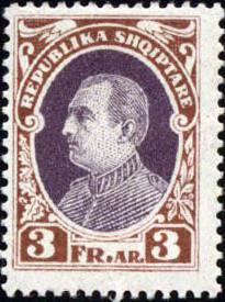 Albania 1925 President Ahmed Zogu j.jpg