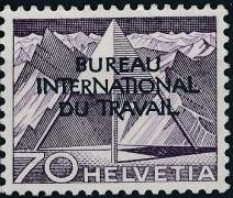 Switzerland 1950 Landscapes and Technology Official Stamps for The International Labor Bureau k.jpg