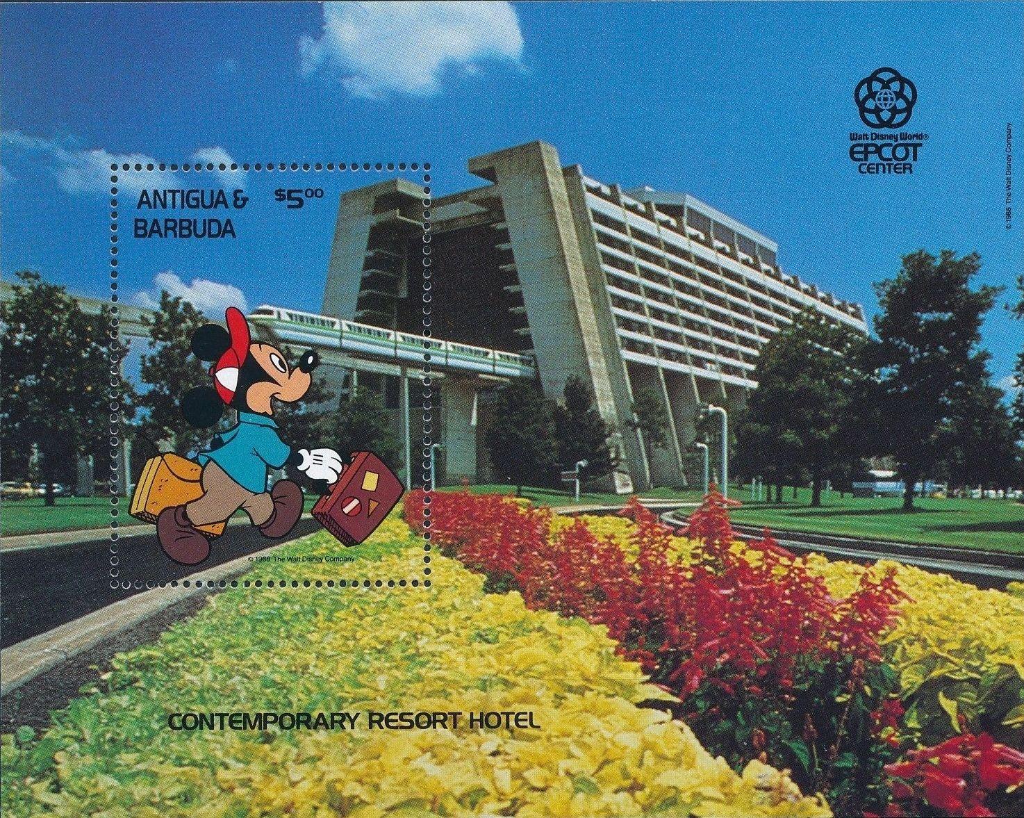 Antigua and Barbuda 1988 Disney - EPCOT Centre - Orlando Florida h.jpg