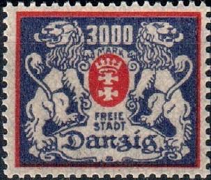 Danzig 1923 Coat of Arms of Danzig and Lions d.jpg