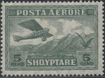 Albania 1925 Airplane Crossing Mountains