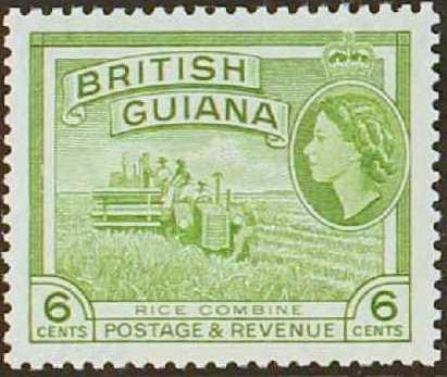 British Guiana 1954 Elizabeth II and Local Scenes f.jpg