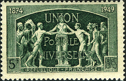 France 1949 75th Anniversary of UPU