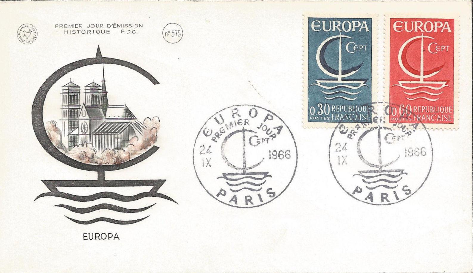 France 1966 EUROPA FDCc.jpg